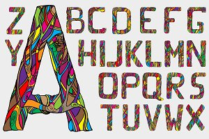 Fairytale alphabet. Vector