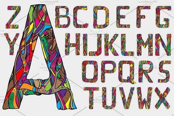 Fairytale alphabet. Vector - Display