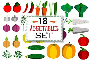 18 Vegetables set.