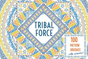 Tribal Force pattern brushes SALE