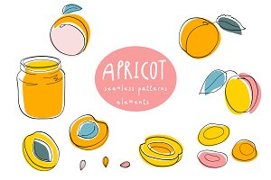 Apricot in cartoon style