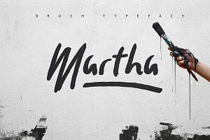 Martha Brush Typeface [30% OFF]