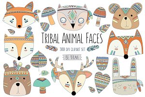 Woodland Tribal Animals & Elements