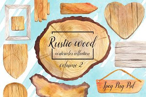 Rustic watercolor wood  - volume 2