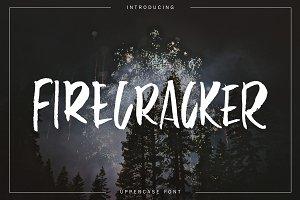 Firecracker - uppercase font
