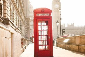 London - Morning Telephone Booth