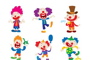 Clown character vector