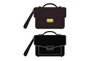 Businessman handbag. Vector