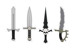 Daggers set. Vector