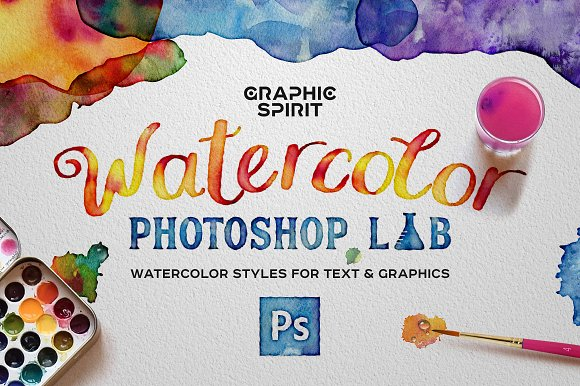 Watercolor PHOTOSHOP Lab-Graphicriver中文最全的素材分享平台