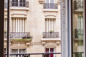 Looking Out Window - Paris