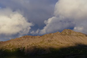 Evening Clouds over Mountain Range