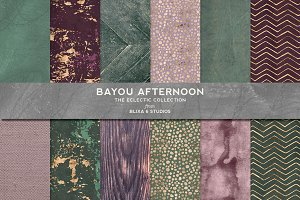 Bayou Afternoon Gold & Watercolors