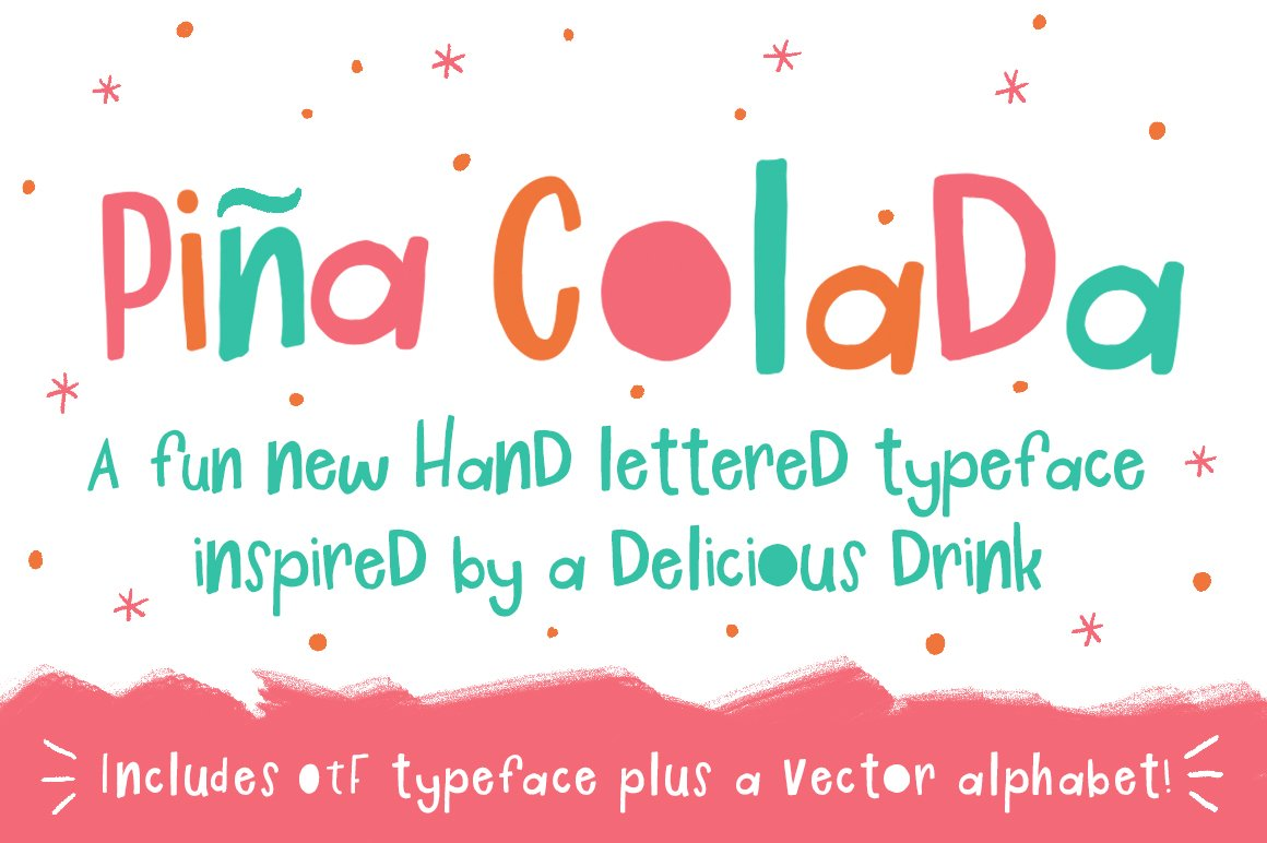 Pina Colada Font Display Fonts Creative Market