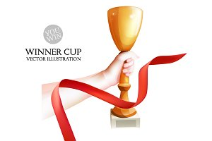 Winner Cup in the Hand