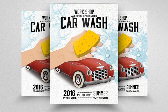 Car Wash Flyer Template Flyer Templates on Creative Market – Car Wash Flyer Template