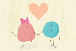 Funny creatures in love