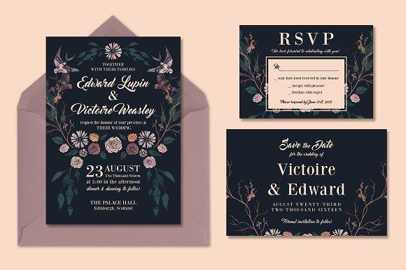 Rich Dark Magical Wedding Suite