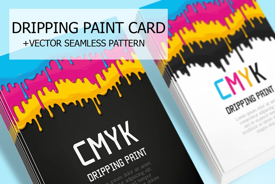 Dripping Paint Card
