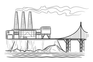 Factory industrial landscape