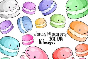 Kawaii Macarons Clipart