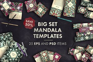 Big set mandala templates 02