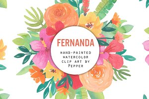 Fernanda Watercolor Flower Clipart