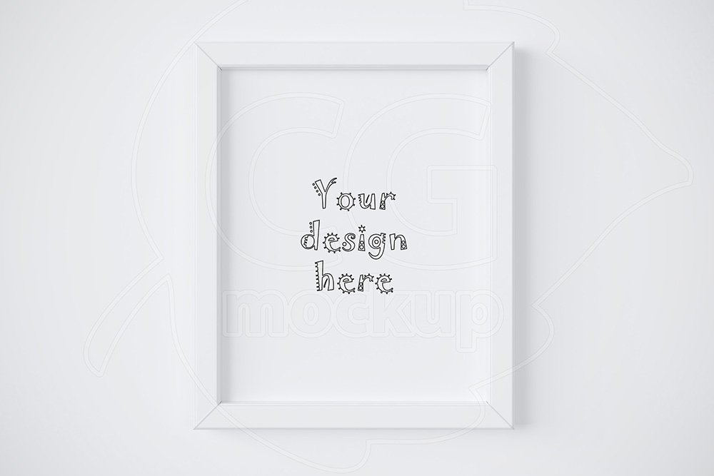 Single White Frame Mockup 8x10 Print Mockups Creative