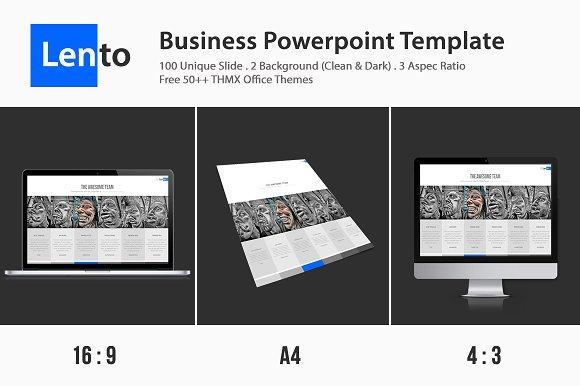 Lento Multipurpose Powerpoint Presentation Templates Creative Market