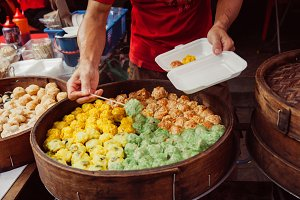 Chinese traditional steamed buns