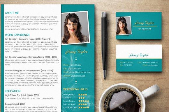 premium résumé set v2 resume templates creative market