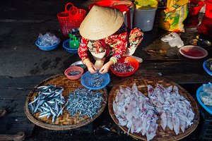 Vietnamese woman at the market