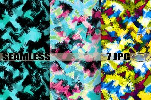 "Seamless patterns ""Smears of paint""2"