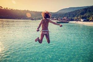 Jump in summer