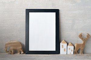 blank frame poster on wall