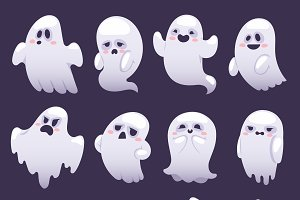 Ghost character vector characters