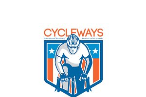 Cycleways American Cyclist Logo