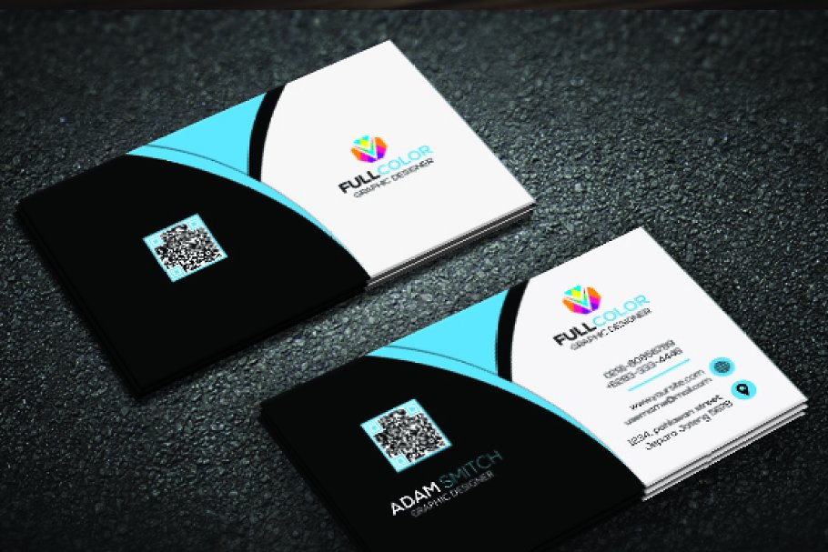 Clasic Modern Business Card in Business Card Templates - product preview 4