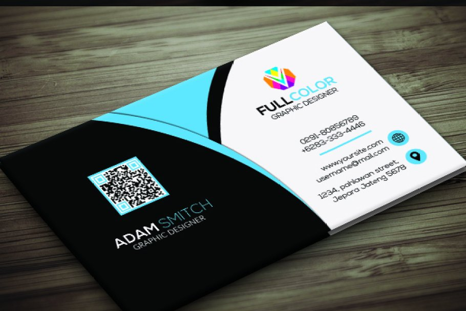Clasic Modern Business Card in Business Card Templates - product preview 3