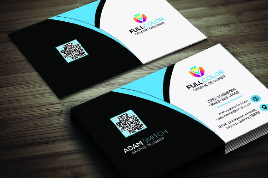 Clasic Modern Business Card in Business Card Templates - product preview 2