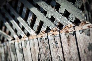 Rusted wooden door