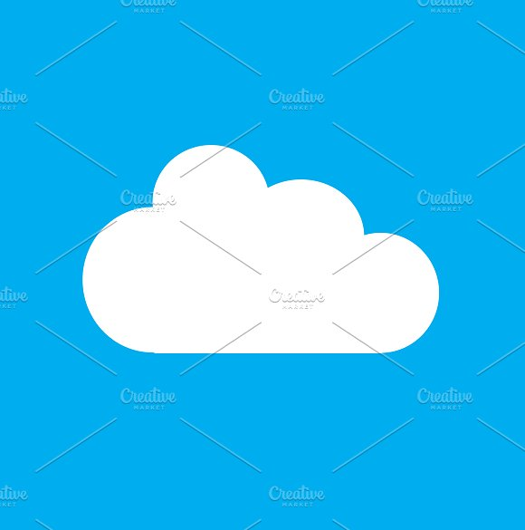 Set of 9 graphic clouds vector
