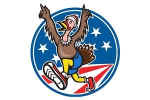 American Turkey Run Runner Cartoon
