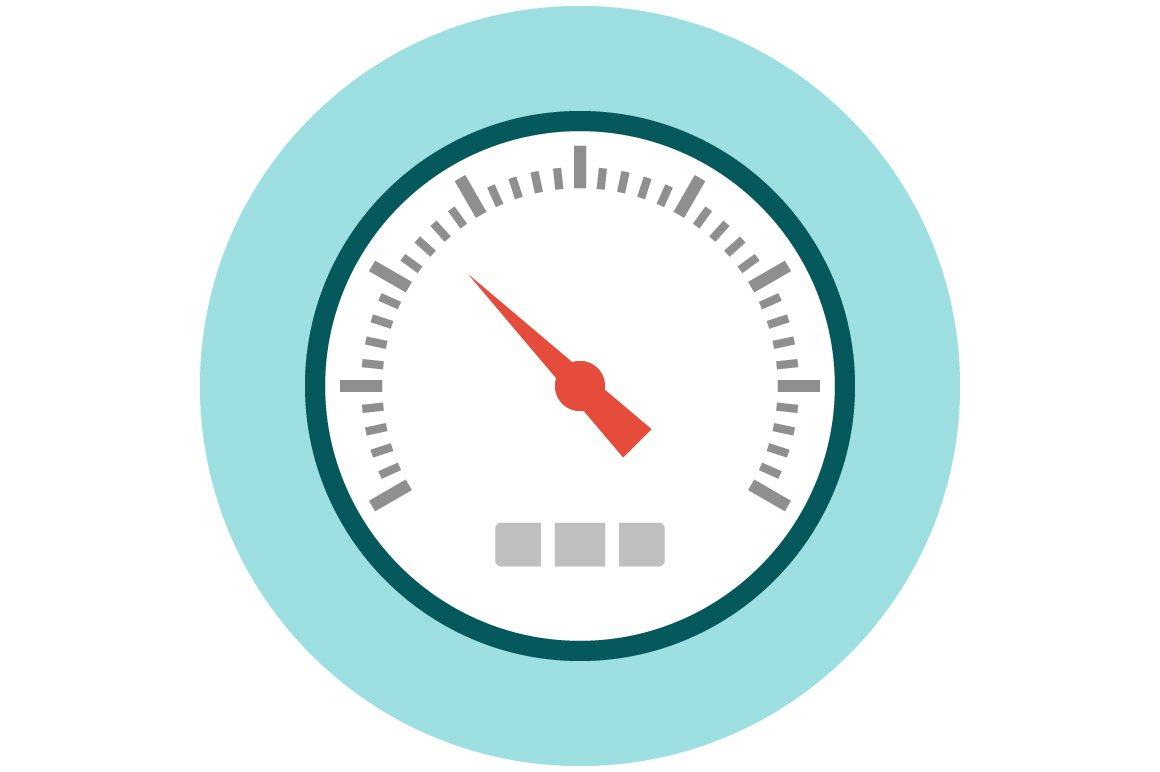 Speedometer icon flat ~ Icons ~ Creative Market