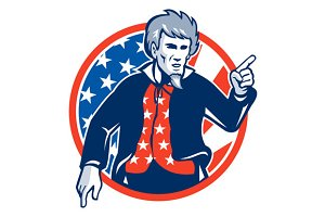 Uncle Sam American Pointing Finger