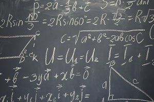 math formulas on black board