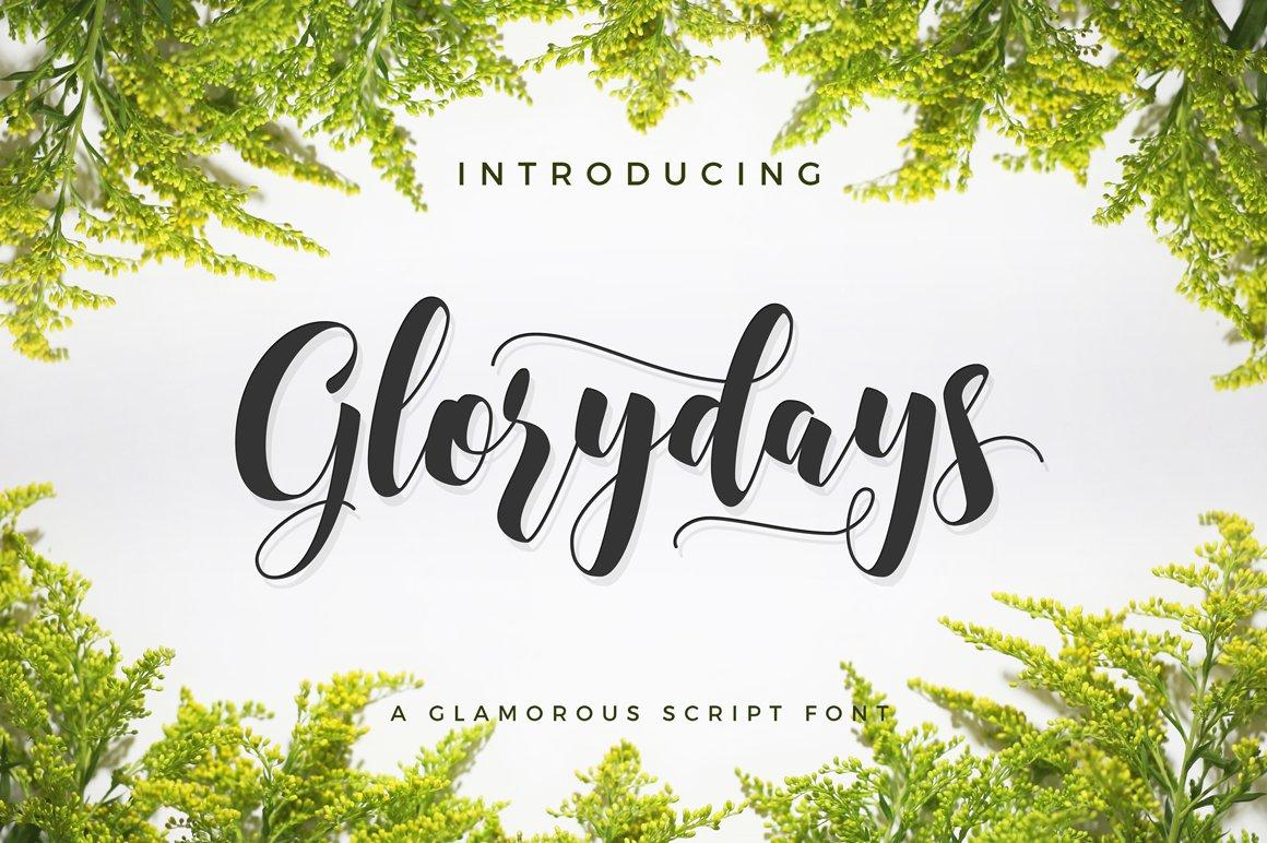 Glorydays Cursive Font Script Fonts Creative Market