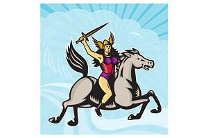 Valkyrie Amazon Warrior Riding H