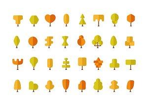 Autumn trees iconset
