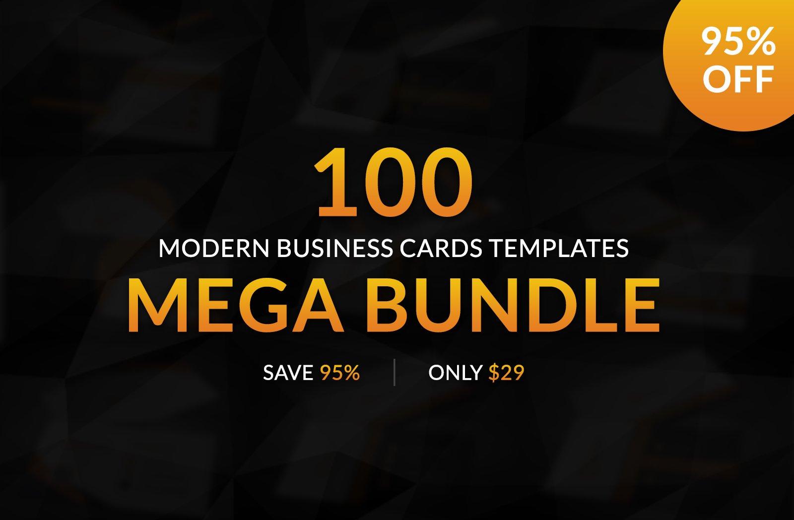 100 Modern Business Card Templates ~ Business Card Templates ...